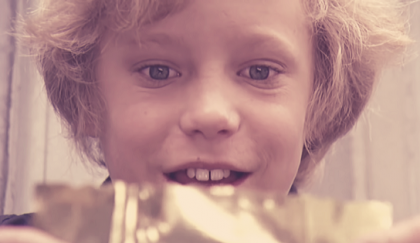 The golden ticket scene from Willy Wonka.