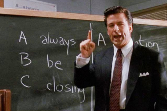 Clip of Glengarry Glen Ross.
